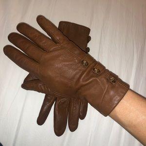Ralph Lauren leather gloves - brown